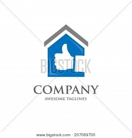 house and real estate best choice logo concept, great house logo, best property logo