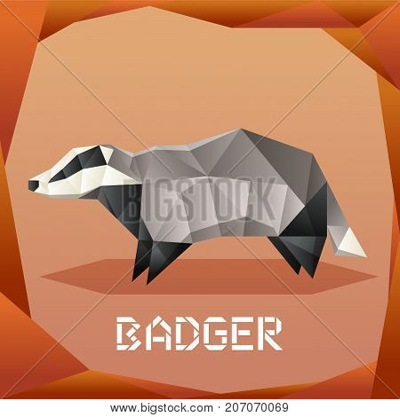 Vector image of the Origami grey Badger