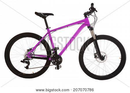 Sport mountain bike isolated on white background.