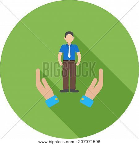 Facilitation, support, skills icon vector image. Can also be used for soft skills. Suitable for mobile apps, web apps and print media.