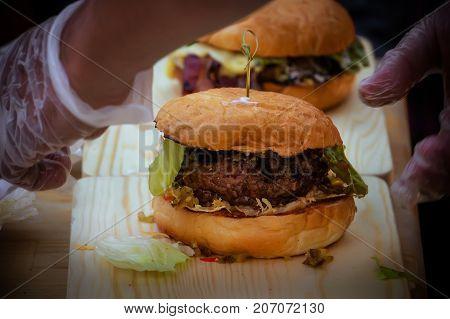 Lentil Burger Preparation