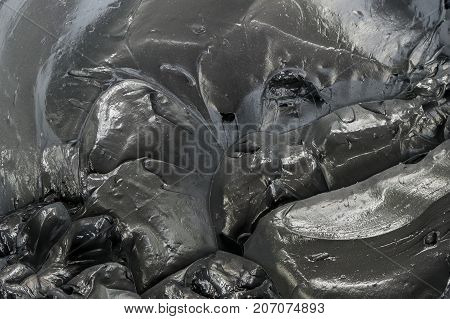 texture of black grease for mechinery lubrication
