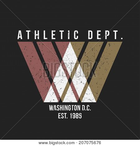 Washington Typography For T-shirt Print. Athletic Patch For Tee Graphic. T-shirt Design