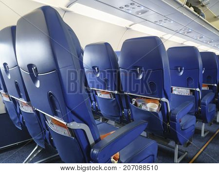 Moscow Russian Federation - March 16 2017: Chairs in the plane