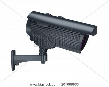 Security camera. 3d image. Isolated white background.
