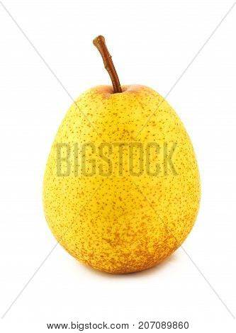 pears one on white background pear food green organic fruit fresh
