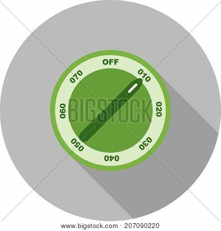 Temperature, knob, machine icon vector image. Can also be used for Climatic Equipment. Suitable for use on web apps, mobile apps and print media.