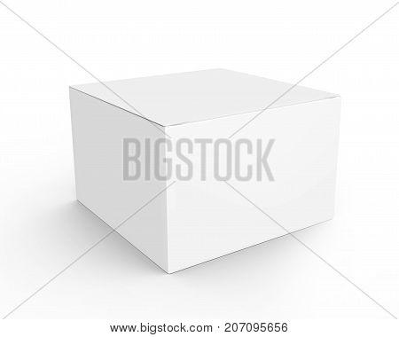 Blank Paper Box Mockup