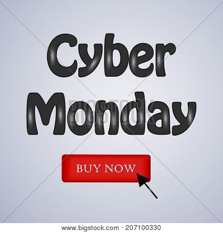 illustration of Cyber Monday Buy Now text on the occasion of Cyber Monday