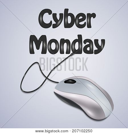 illustration of mouse with Cyber Monday text on the occasion of Cyber Monday