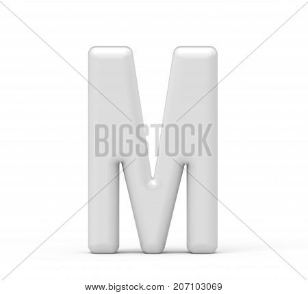 Pearl White Letter M