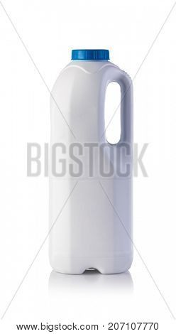 milk bottle on a white background