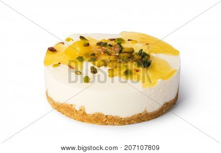 cheesecake on a white plate