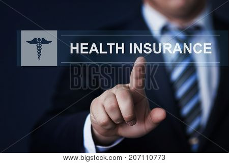 Health insurance Medical Risk Assurance Business Concept.