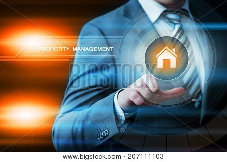 Property Management Real Estate Mortgage Rent Buy concept.