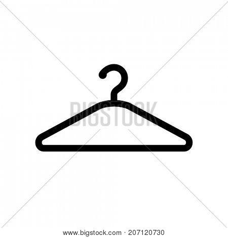 Hanger icon isolated on white background