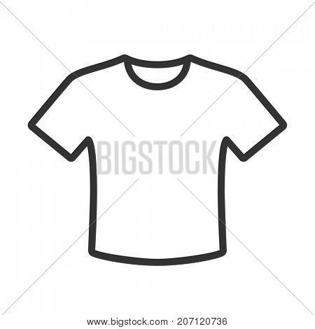 T-shirt icon isolated on white background