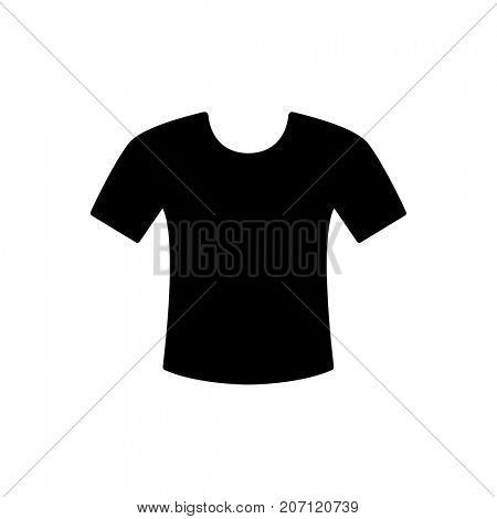 Black t-shirt icon isolated on white background
