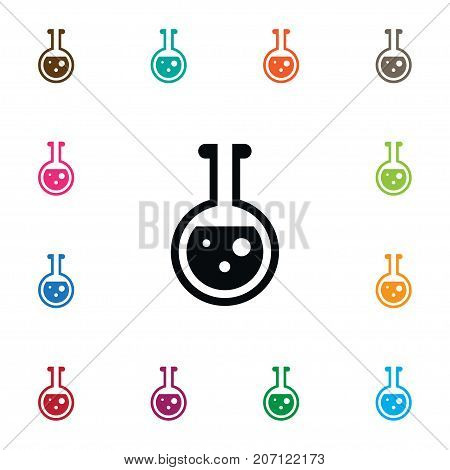 Test Tube Vector Element Can Be Used For Flask, Test, Tube Design Concept.  Isolated Flask Icon.