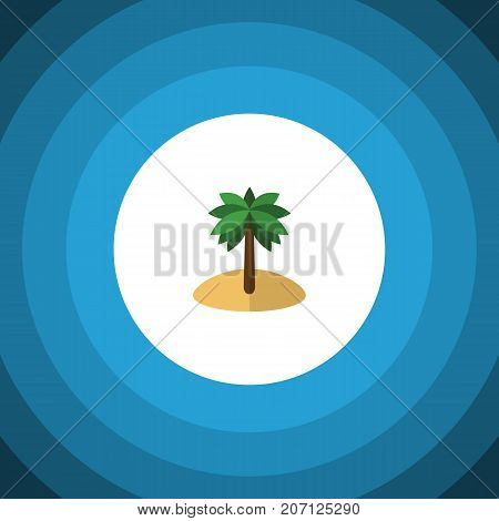 Coconut Vector Element Can Be Used For Coconut, Palm, Island Design Concept.  Isolated Palm Flat Icon.