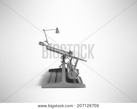 Electronic Multimedia Culmination For Drawing On The Left 3D Render On A Gray Background