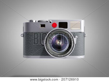 Old Photo Camera 3D Render On Grey Background