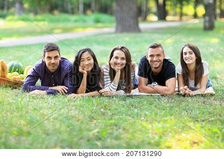 Young Women And Men Of Different Ethnicity Having Fun Together