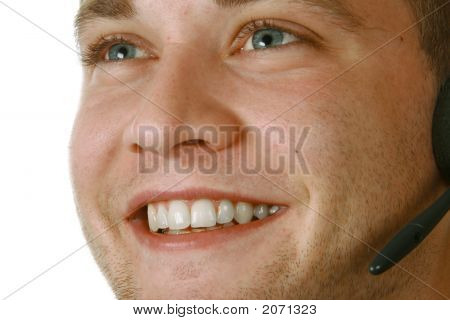 Smiling Male With Headset