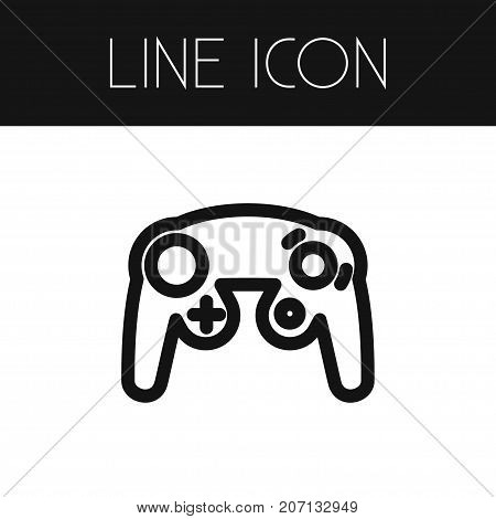 Gaming Vector Element Can Be Used For Gaming, Controller, Joystick Design Concept.  Isolated Controller Outline.