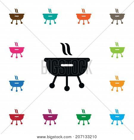 Roast Vector Element Can Be Used For Brazier, Grilling, Roast Design Concept.  Isolated Grilling Icon.