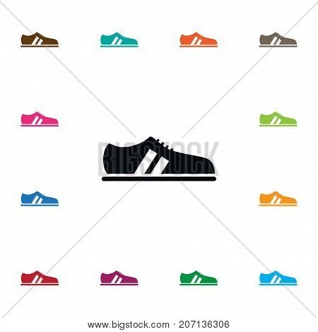 Shoelace Vector Element Can Be Used For Snickers, Shoelace, Gumshoes Design Concept.  Isolated Snickers Icon.