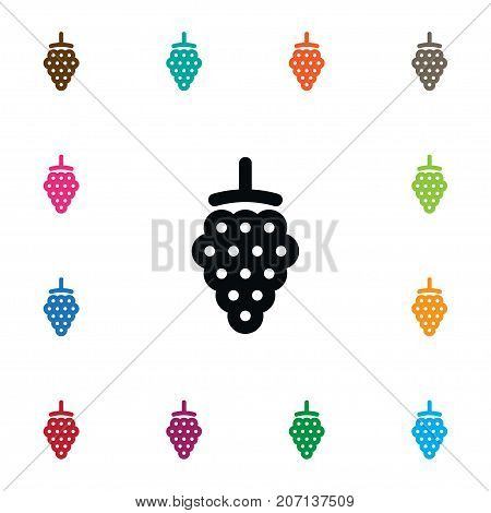 Blackberry Vector Element Can Be Used For Bramble, Blackberry, Dewberry Design Concept.  Isolated Dewberry Icon.