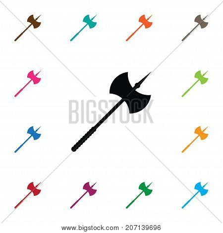Lumberjack Vector Element Can Be Used For Lumberjack, Blade, Ax Design Concept.  Isolated Blade Icon.