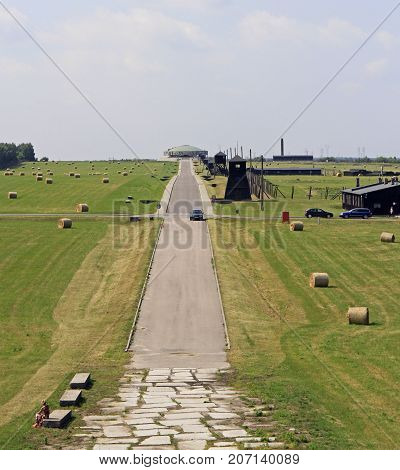 Majdanek Concentration Camp On The Outskirts Of Lublin