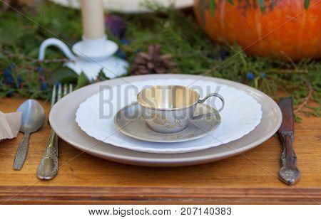 table wares for the tea fariytale-like table setting