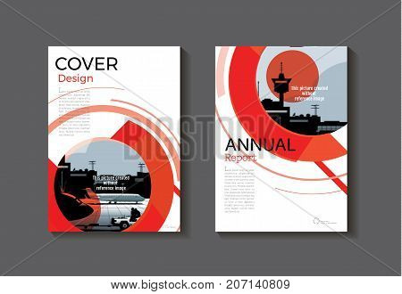 red Circle abstract cover design modern book cover abstract Brochure cover templateannual report magazine and flyer layout Vector a4
