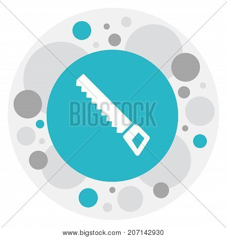 Vector Illustration Of Gardening Symbol On Hacksaw Icon