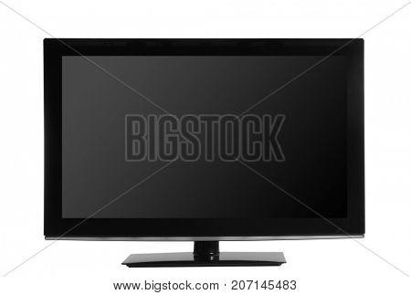 Modern monitor on white background