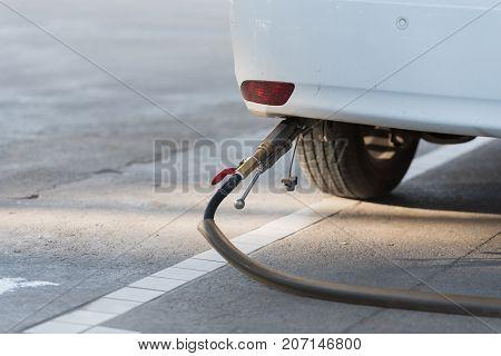 Car refuel LPG or liquefied petroleum gas