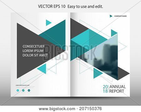 Abstract triangle annual report Brochure design template vector. Business Flyers infographic magazine poster.Abstract layout template Book Cover presentation portfolio