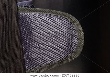 texture grey sporty breathable mesh fabric, close-up