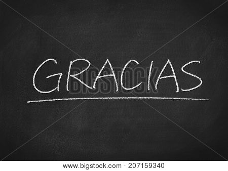 Gracias Concept Word On A Blackboard Background