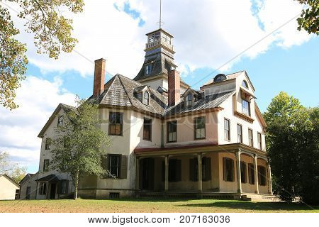 Batsto, New Jersey USA September 30, 2017  An old historic family home of John Wharton
