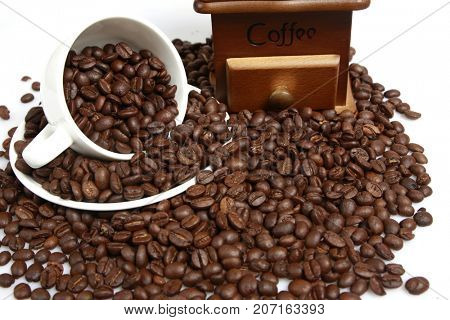 Beans coffee background