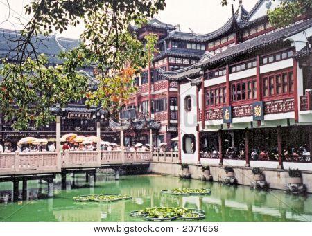 Shanghai Garden With Bridge