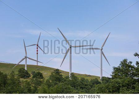 Wind Blades On Sweet Hills