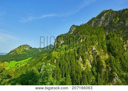Rugged Hill In Hohenschwangau
