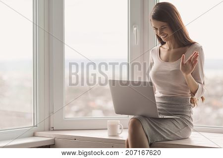 Beautiful Woman Working