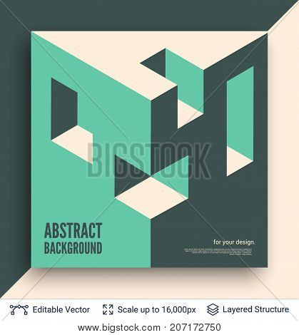 Vector multicolored cubic shapes. Simple geometric backdrop.