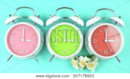 Springtime Daylight Saving Time Clocks